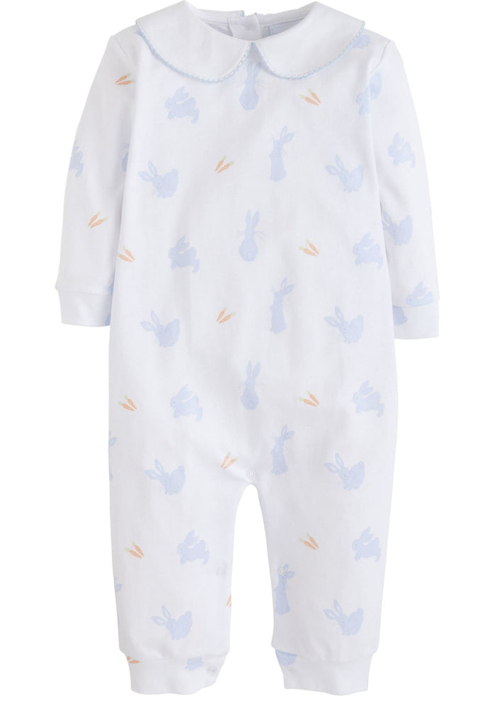 Blue Bunny and Carrot Playsuit Pajamas Little English