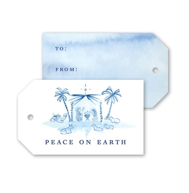 Blue Nativity Gift Tags Gift Tag Dogwood Hill