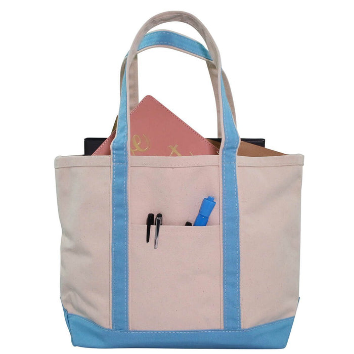 Boat Tote Totes CB Station Baby Blue Medium
