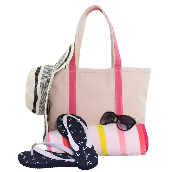 Boat Tote Totes CB Station Coral Medium
