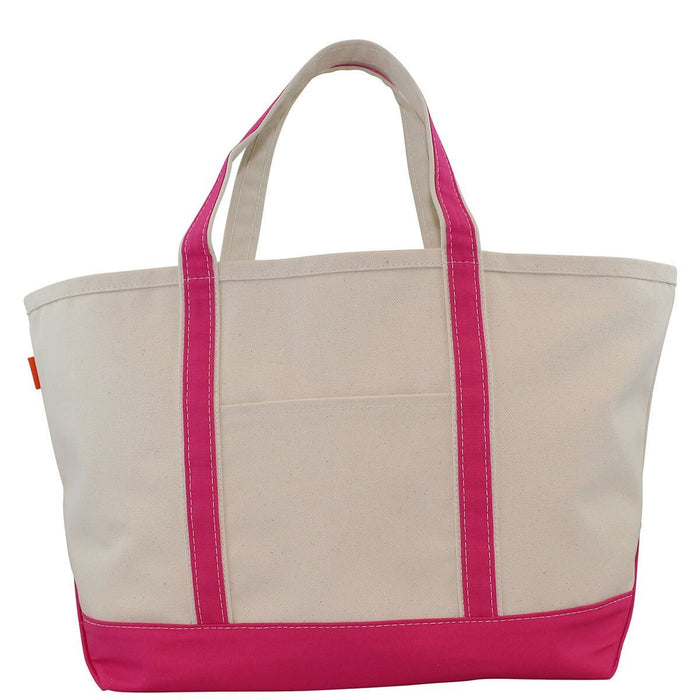 Boat Tote Totes CB Station Hot Pink Large