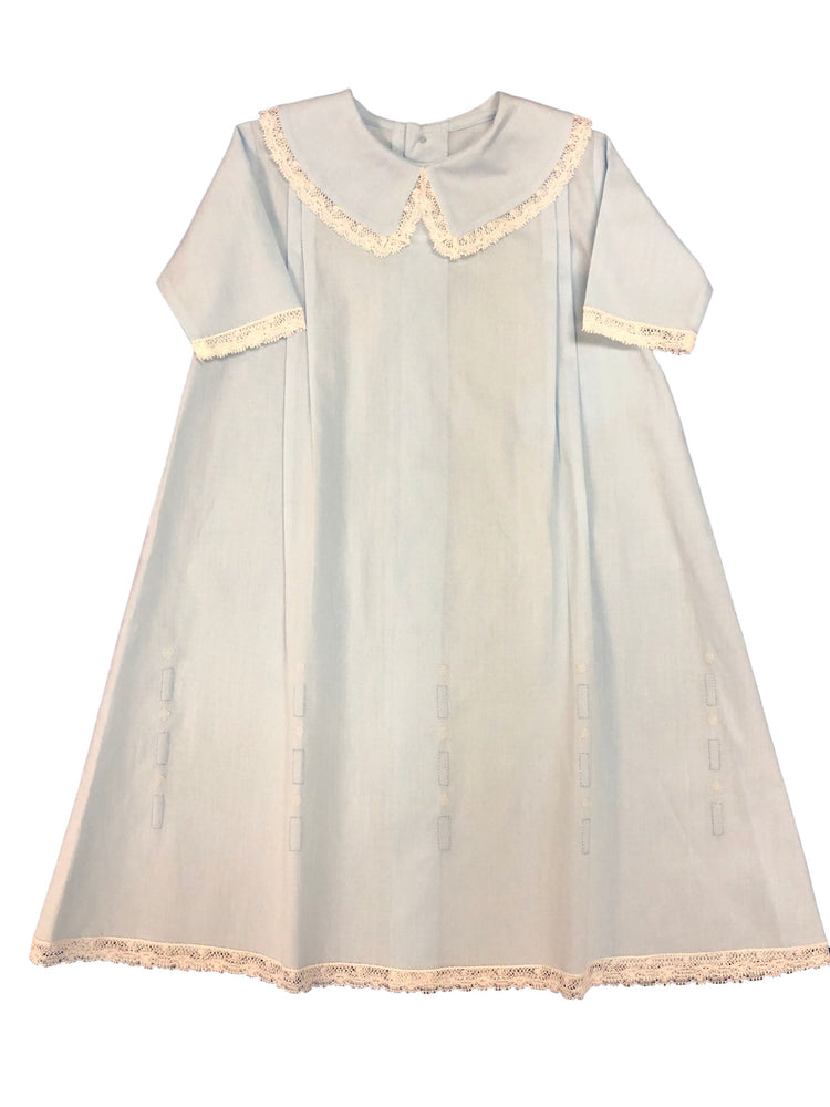 Boy Day Gown with Lace and Shadow Embroidery Day Gown Auraluz