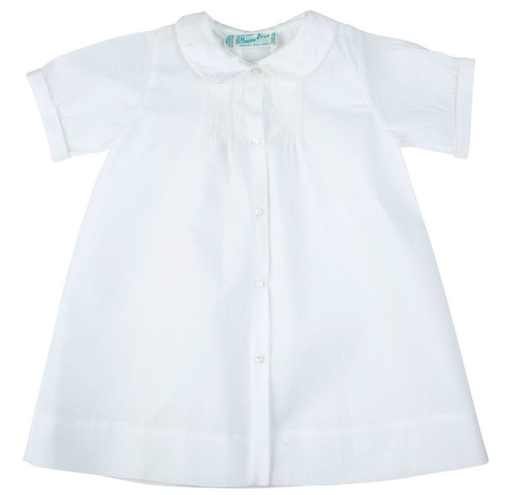 Boys Embroidered Collar Daygown Baby Gown Feltman Brothers