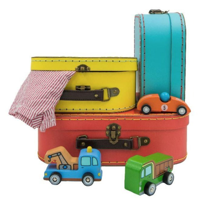 Bright Retro Suitcases Toy Boxes Sass and Belle