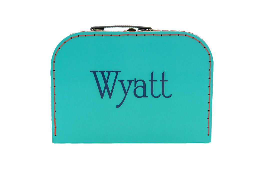 Bright Retro Suitcases Toy Boxes Sass and Belle Medium - Turquoise