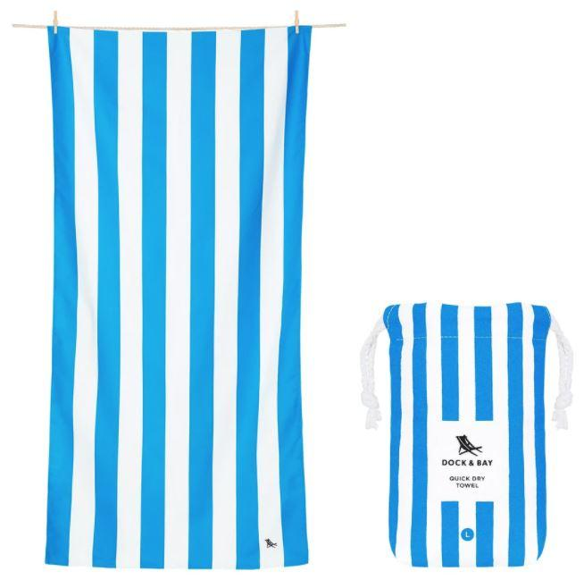 Cabana Quick Dry Towel - Extra Large Beach Towels Dock and Bay Bondi Blue