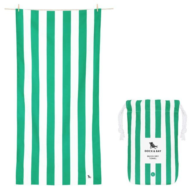 Cabana Quick Dry Towel - Extra Large Beach Towels Dock and Bay Cancun Green