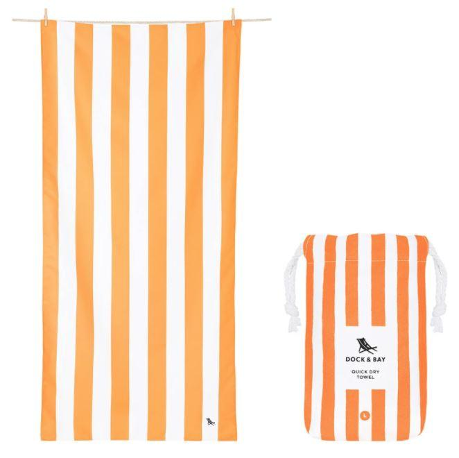 Cabana Quick Dry Towel - Extra Large Beach Towels Dock and Bay Ipanema Orange