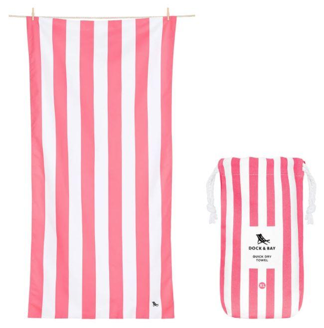 Cabana Quick Dry Towel - Extra Large Beach Towels Dock and Bay Kuta Pink