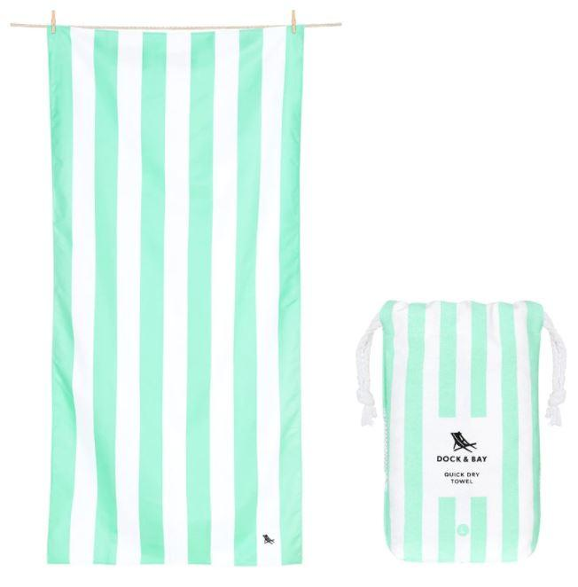 Cabana Quick Dry Towel - Extra Large Beach Towels Dock and Bay Narabeen Green