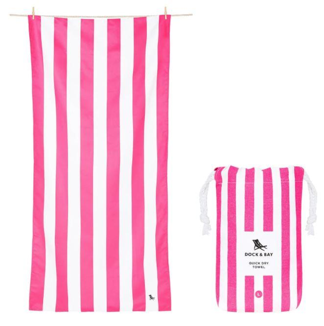Cabana Quick Dry Towel - Extra Large Beach Towels Dock and Bay Phi Phi Pink