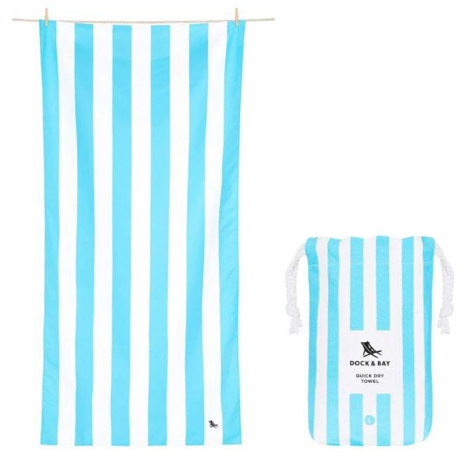 Cabana Quick Dry Towel - Extra Large Beach Towels Dock and Bay Tulum Blue