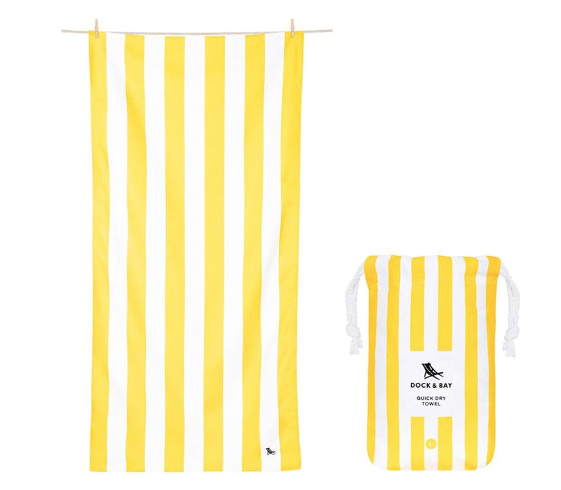 Cabana Quick Dry Towel - Large Beach Towels Dock and Bay Boracay Yellow
