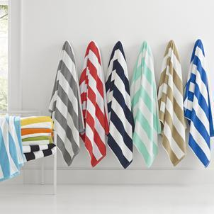 Cabana Stripe Terry Beach Towel Beach Towels Kassatex