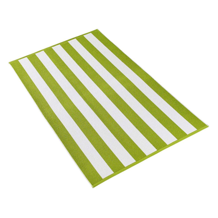 Cabana Stripe Terry Beach Towel Beach Towels Kassatex Lime Green