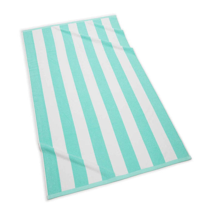 Cabana Stripe Terry Beach Towel Beach Towels Kassatex Turquoise