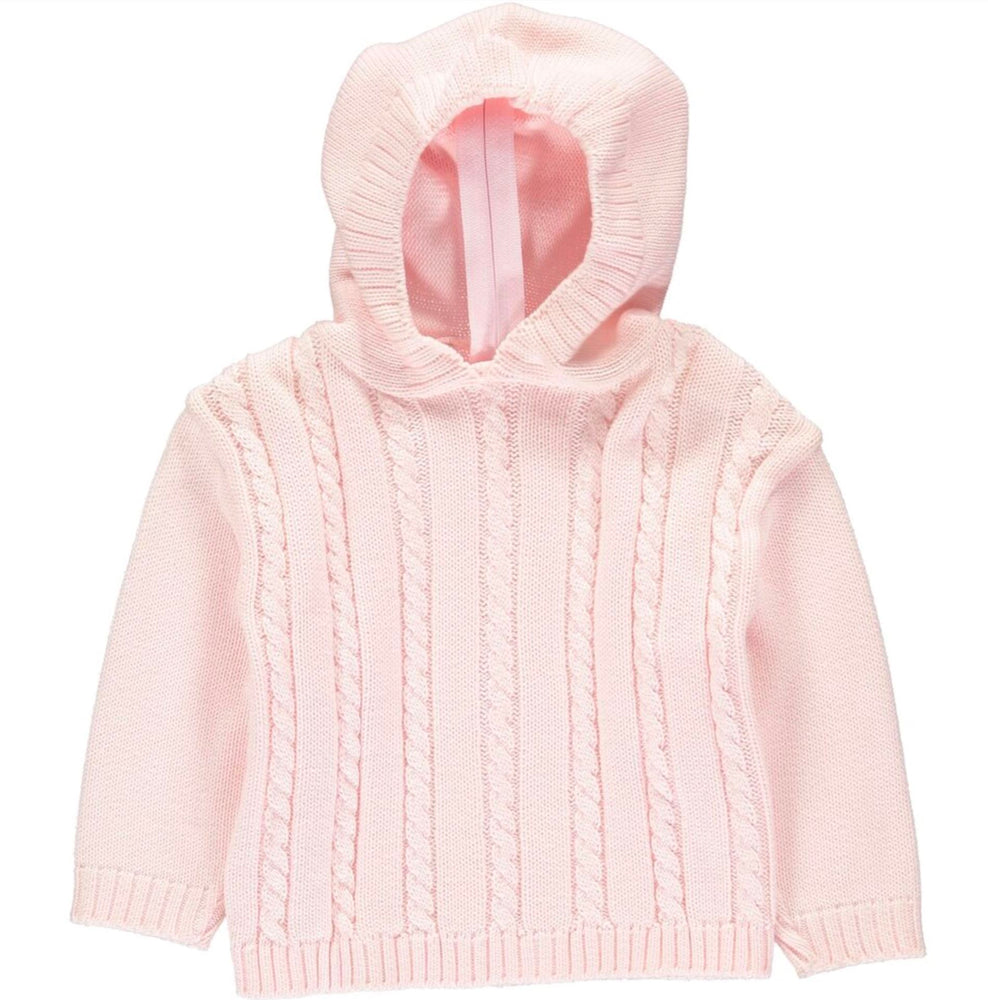 Cable Knit Back Zip Sweaters Boutique Collection Pink 12m