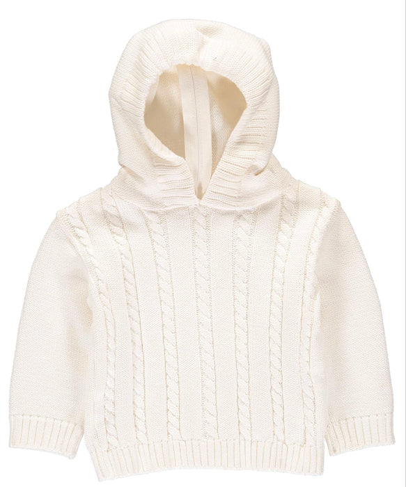 Cable Knit Back Zip Sweaters Boutique Collection White 12m