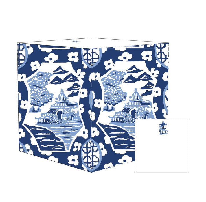 Canton Blue Sticky Cube Stationery Dana Gibson