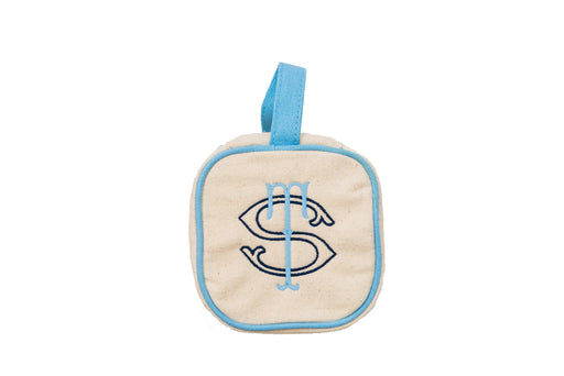 Canvas Jewelry Cube Jewelry Case MSC Light Blue