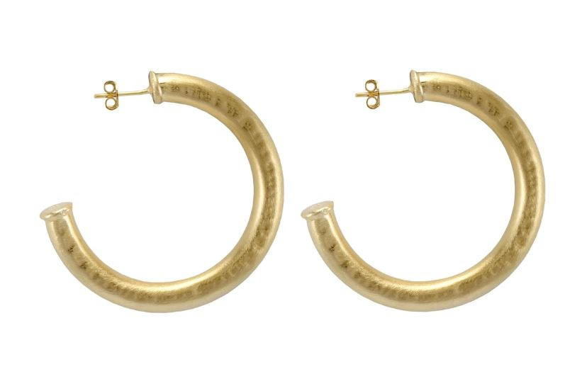 Chantal Hoop Hammered Earrings Sheila Fajl