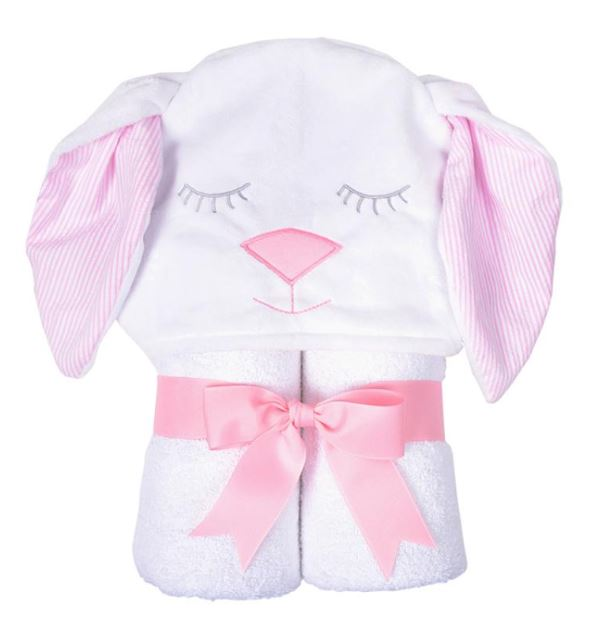 Character Bunny Towel Hooded Bath Towels 3 Marthas Pink