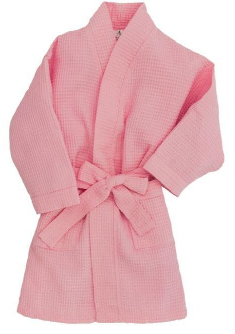 Children's Waffle Robe Robes Pendergrass Pink Small 2-4