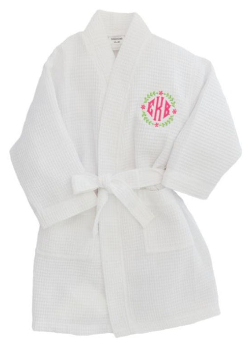 Children's Waffle Robe Robes Pendergrass White Small 2-4