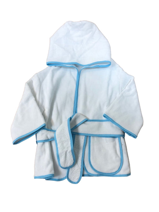 Child's Terry Robe with Color Trim Robe CMC Best Blue 6-12 M