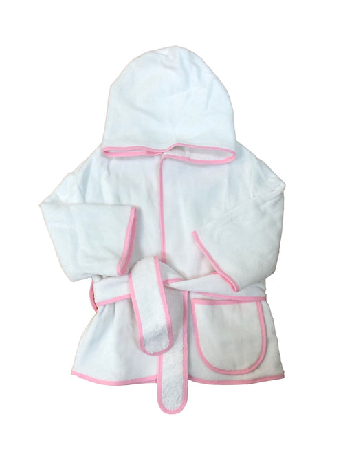 Child's Terry Robe with Color Trim Robe CMC Best Pink 6-12 M