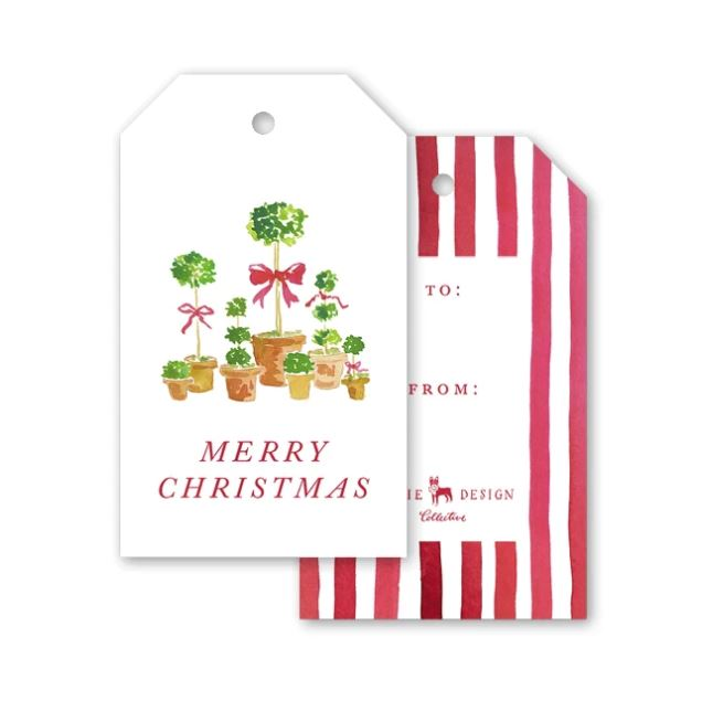 Christmas Topiaries Gift Tags Gift Tag Dogwood Hill