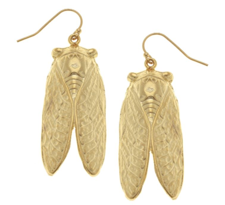 Cicada Earrings Earrings Susan Shaw Hook