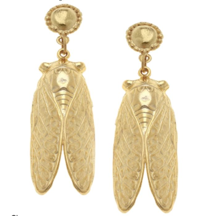 Cicada Earrings Earrings Susan Shaw Post