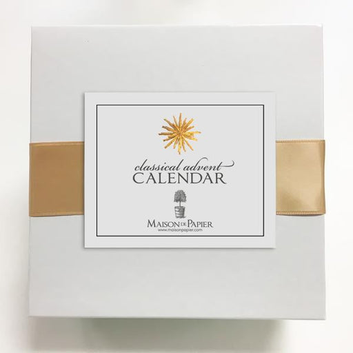 Classical Advent Calendar with Easel Stationery Maison de Papier
