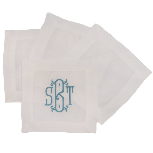 Cocktail Napkins - Set of 4 Cocktail Napkins Boutross White