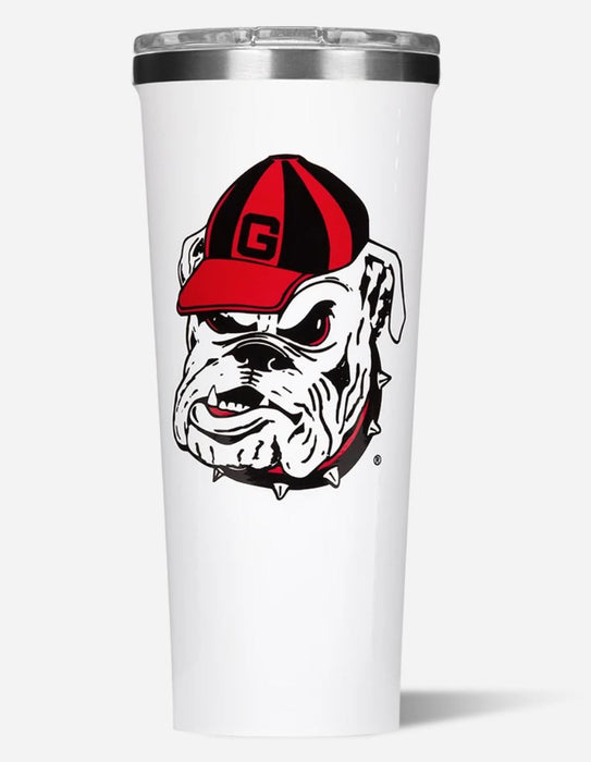 Collegiate Tumbler 24oz Drinkware Corkcicle Georgia Logo