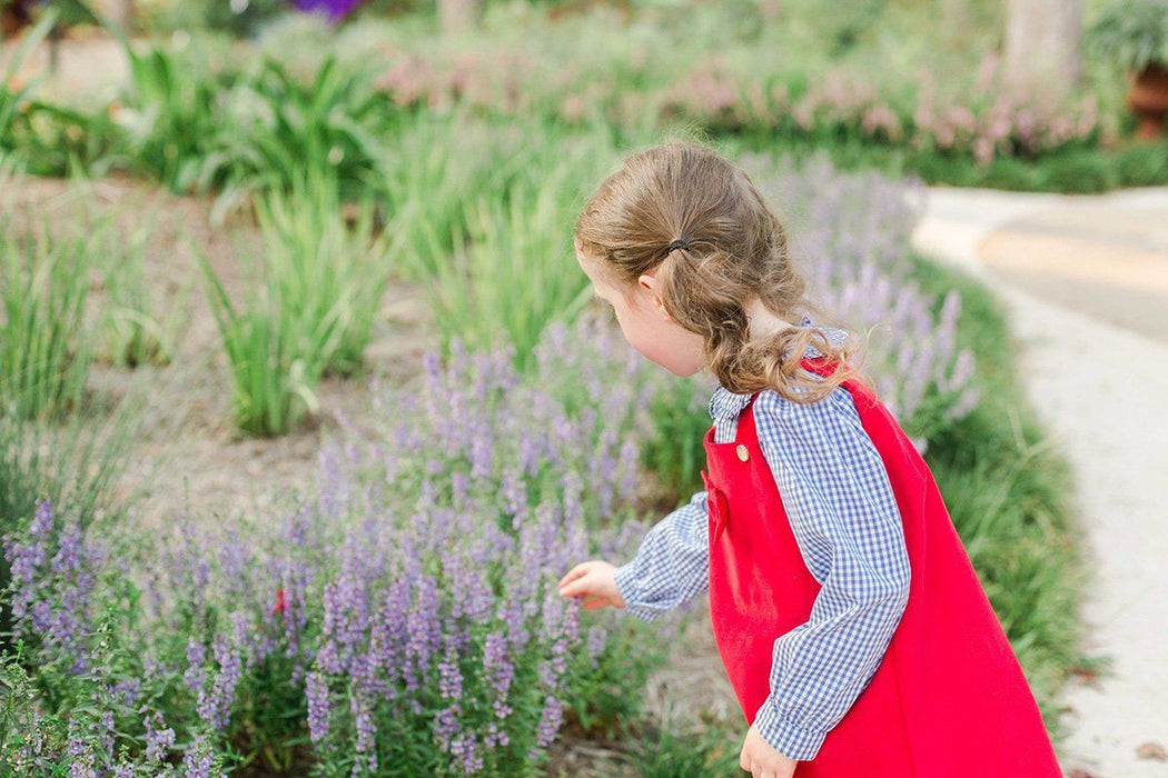 Corduroy Bow Jumper Dress Little English