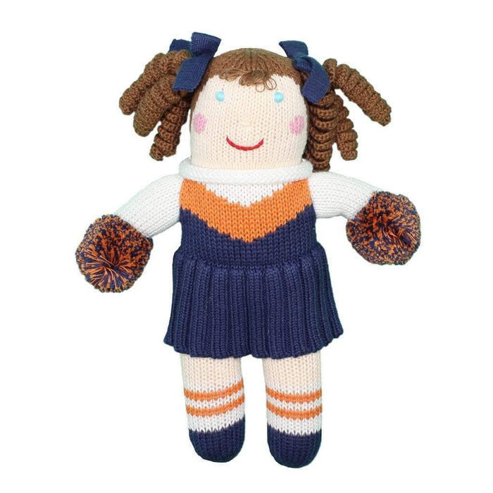 Crochet Cheerleader Dolls Zubels Large Orange/Blue