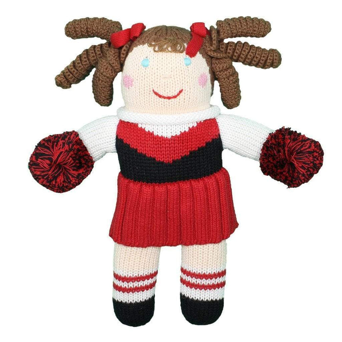Crochet Cheerleader Dolls Zubels Large Red/Black
