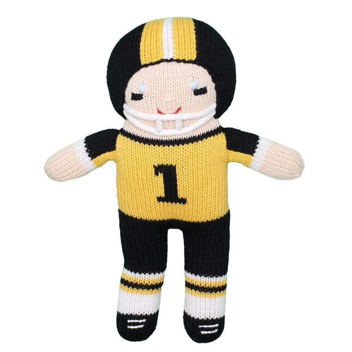 Crochet Football Player Dolls Zubels Large Yellow/Black