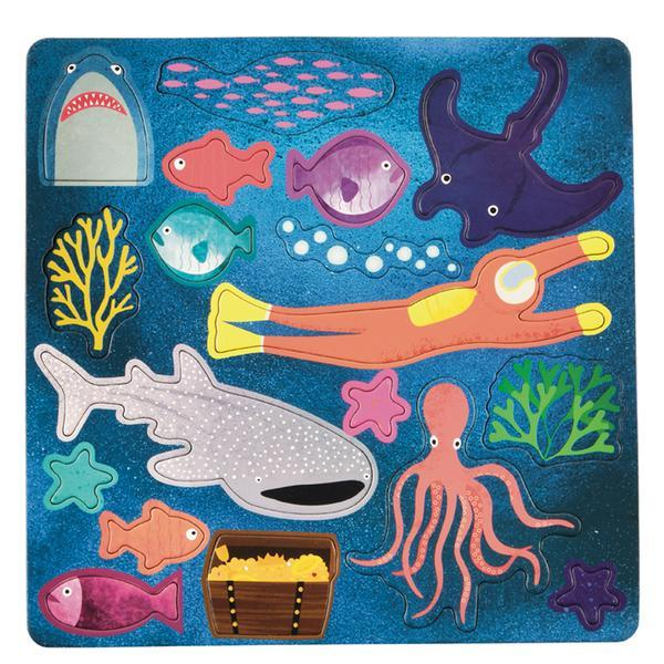 Deep Sea Magnetic Fun and Games Activity Toys Floss and Rock