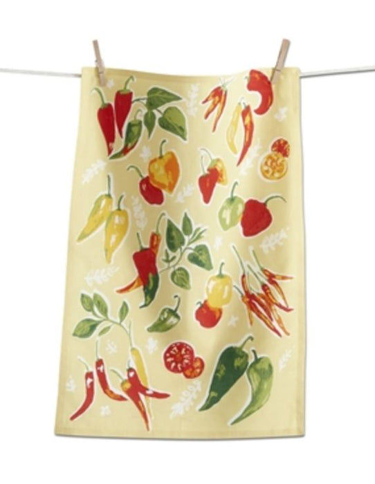 Dishtowels Dishtowel Tag True Living Chili Peppers