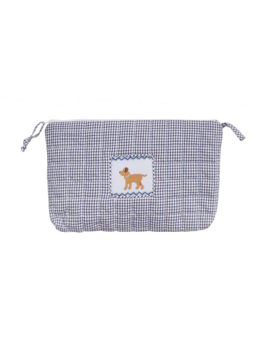 Dog Smocked Quilted Luggage Bags and Totes Little English Dog Cosmo