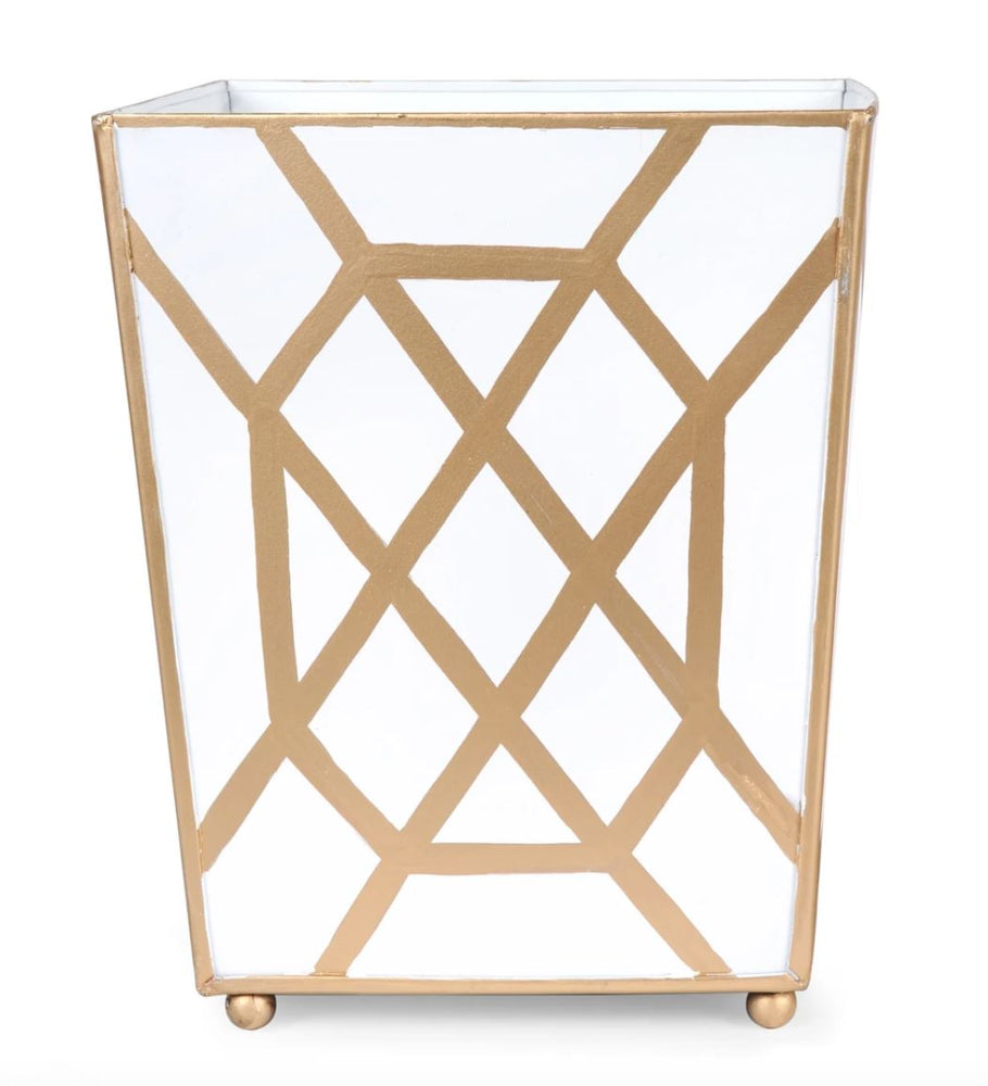 Don't Fret White Wastebasket Home Decor Jayes Studio