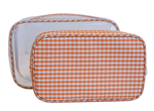 Duo Clear Bag Set Cosmetic/Accessories Bags TRVL Design Orange