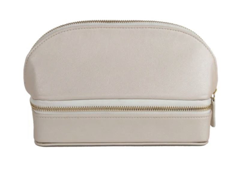 Duo Travel Organizer Cosmetic/Accessories Bags Brouk and Co Pearl White