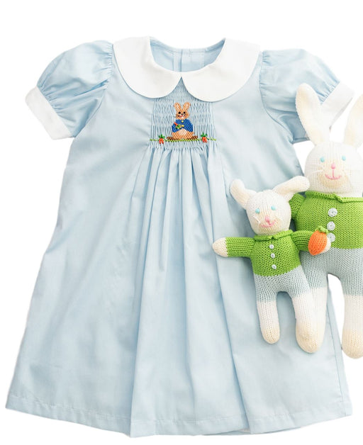 Easter Bunny Smocked A-Line Clothing Sen Baby