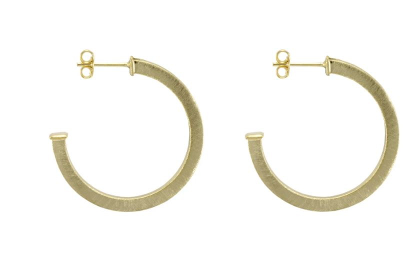 Elise Hoops Earrings Sheila Fajl Gold