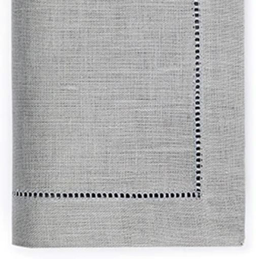 Festival Linen Cocktail Napkins - Set of 4 Cocktail Napkins Sferra Grey