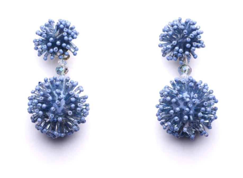 Fireworks Earrings Earrings Oliphant Blue